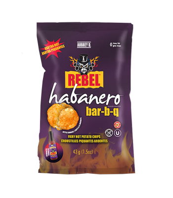 Aubrey D Habanero BBQ Potato Chips (43g) Food and Groceries Aubrey D