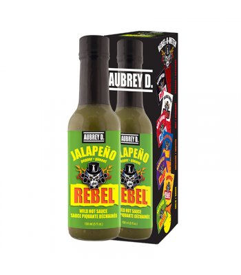 Aubrey D Rebel Jalapeno Hot Sauce (150ml) Food and Groceries Aubrey D