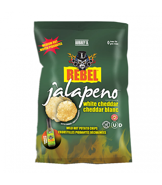 Aubrey D Jalapeno White Cheddar Potato Chips (142g) Snacks and Chips Aubrey D