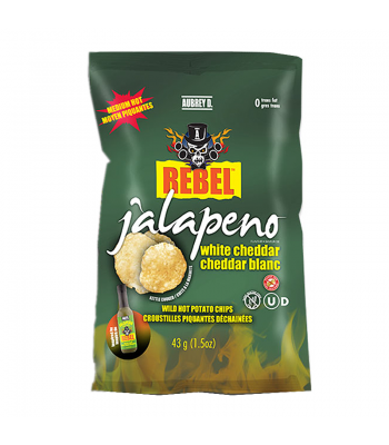 Clearance Special - Aubrey D Jalapeno White Cheddar Potato Chips (43g) **Best Before: 08 March 20** Clearance Zone