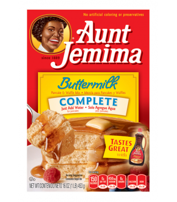 Aunt Jemima Buttermilk Complete Pancake and Waffle Mix 16oz (453g) Breakfast & Cereals Aunt Jemima