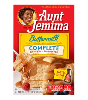 Aunt Jemima Buttermilk Complete Pancake and Waffle Mix 32oz (907g) Breakfast & Cereals Aunt Jemima