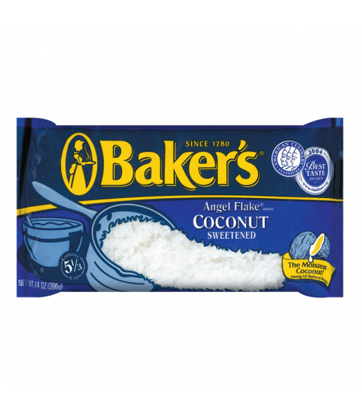 Bakers Angel Flake Sweetened Coconut 14oz (397g)  Food and Groceries