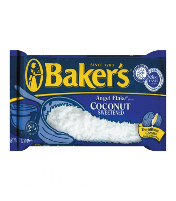 Bakers Angel Flake Sweetened Coconut 7oz (199g)  Baking & Cooking