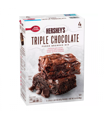 Hershey's Triple Chocolate Brownie Mix - 20oz (567g) - 4pk - SINGLE BOX Food and Groceries Hershey's