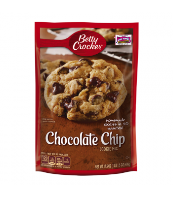 Betty Crocker Chocolate Chip Cookie Mix - 17.5oz (496g) Food and Groceries Betty Crocker
