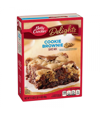 Betty Crocker Delights Cookie Brownie Bars Mix - 17.4oz (493g) Food and Groceries Betty Crocker