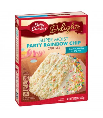 Betty Crocker Super Moist Rainbow Party Chip Cake Mix 432g Baking & Cooking
