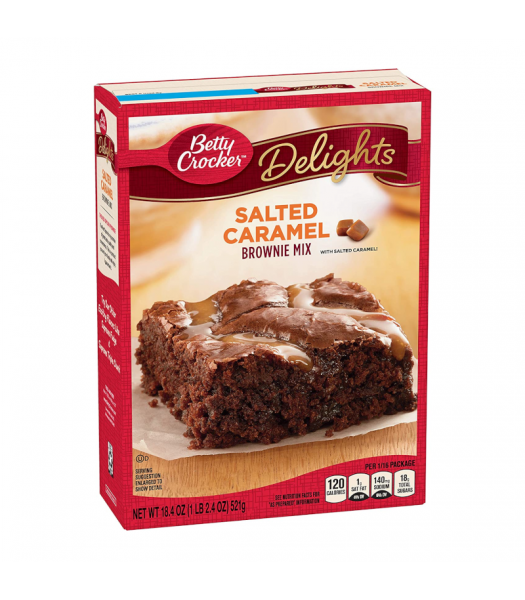 Betty Crocker Delights Salted Caramel Brownie Mix - 18.4oz (521g) Food and Groceries Betty Crocker