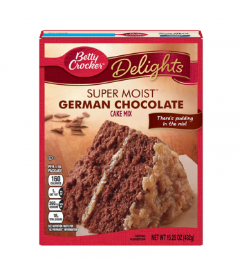 Betty Crocker Super Moist German Chocolate Cake Mix - 15.25oz (432g)