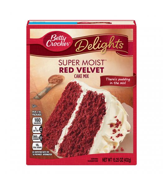 Betty Crocker Delights Super Moist Red Velvet Cake Mix - 15.25oz (432g) Food and Groceries Betty Crocker