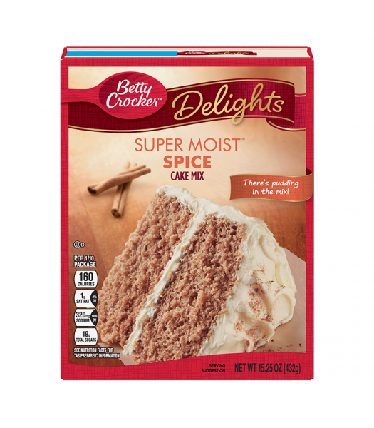 Betty Crocker Super Moist Spice Cake Mix - 15.25oz (432g)