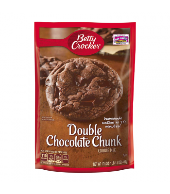 Betty Crocker Double Chocolate Chunk Cookie Mix - 17.5oz (496g) Food and Groceries Betty Crocker