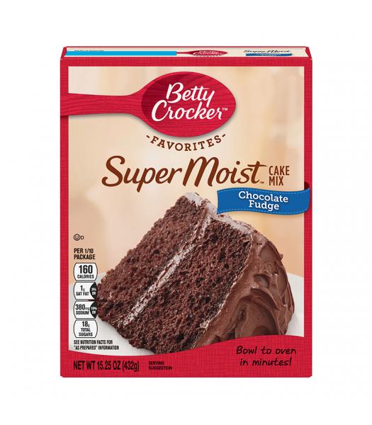 Betty Crocker Favorites Super Moist Chocolate Fudge Cake Mix - 15.25oz (432g) Food and Groceries Betty Crocker