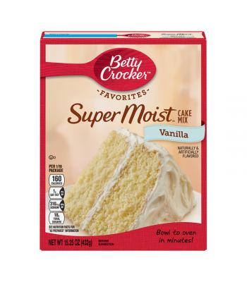 Betty Crocker Super Moist Vanilla Cake Mix - 15.25oz (432g) Food and Groceries Betty Crocker