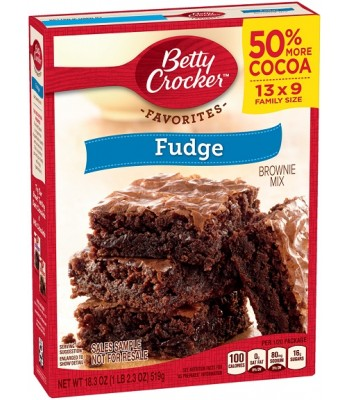 Clearance Special - Betty Crocker Chewy Fudge Brownie Mix - Family Size 18.3oz (519g) **Best Before: January 2017** Clearance Zone
