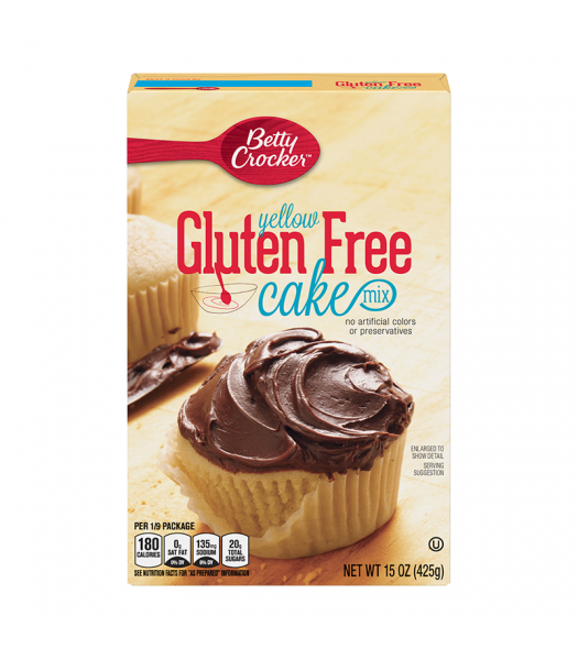 Betty Crocker Gluten Free Yellow Cake Mix - 15oz (425g) Food and Groceries Betty Crocker