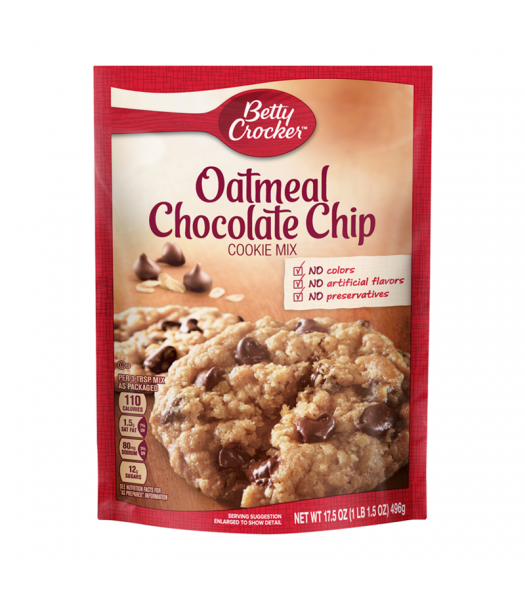 Clearance Special - Betty Crocker Oatmeal Chocolate Chip Cookie Mix - 17.5oz (496g) **Best Before: 09 July 21** Clearance Zone
