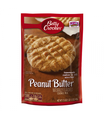 Betty Crocker Peanut Butter Cookie Mix 17.5oz (496g) Baking & Cooking Betty Crocker