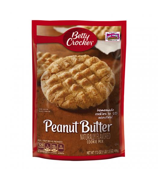 Betty Crocker Peanut Butter Cookie Mix 17.5oz (496g) Baking & Cooking Betty Crocker