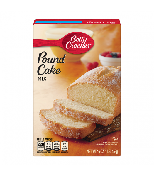 Betty Crocker Pound Cake Mix - 16oz (1LB) (453g) Food and Groceries Betty Crocker