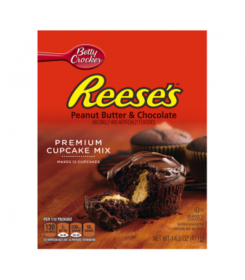 Betty Crocker Reese's Premium Peanut Butter Chocolate Cupcake Mix 14.5oz  Baking & Cooking Betty Crocker
