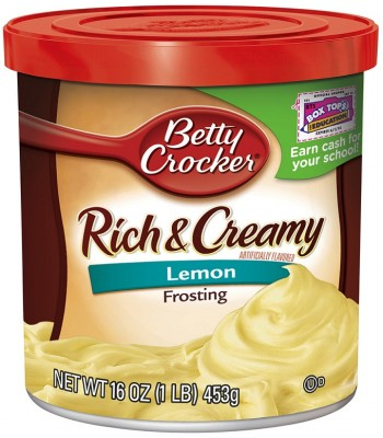 Clearance Special - Betty Crocker Lemon Frosting 16oz ** August 2016 ** Clearance Zone