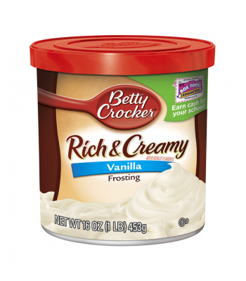 Clearance Special - Betty Crocker Rich & Creamy Vanilla Frosting 16oz **Best By: September 2016** Clearance Zone