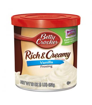 Betty Crocker Rich & Creamy Vanilla Frosting 453g Baking & Cooking Betty Crocker