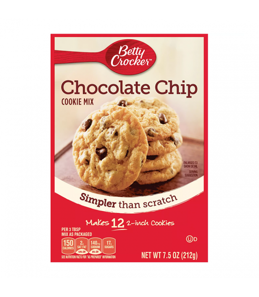 Betty Crocker Snack Size Chocolate Chip Cookie Mix - 7.5oz (212g) Food and Groceries Betty Crocker