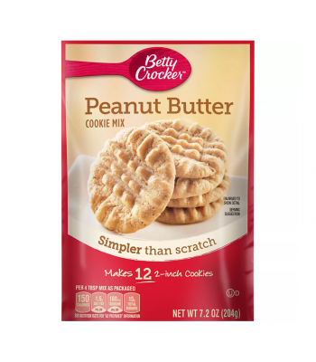 Betty Crocker Snack Size Peanut Butter Cookie Mix - 7.2oz (204g) Food and Groceries Betty Crocker