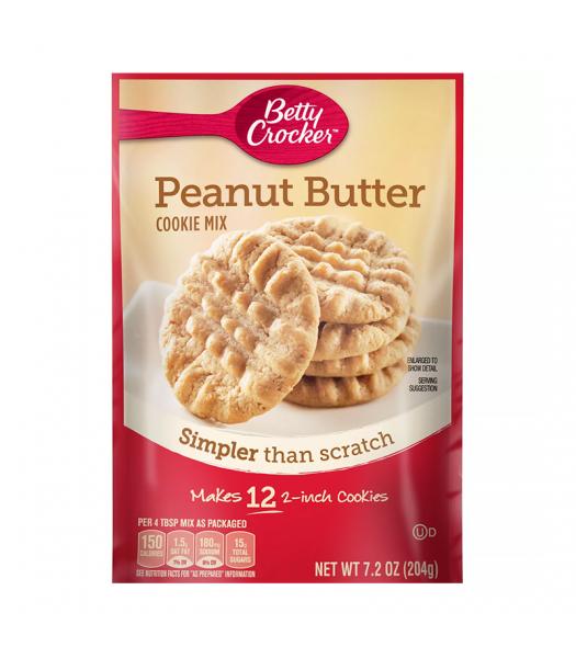 Betty Crocker Snack Size Peanut Butter Cookie Mix - 7.2oz (204g) Food and Groceries Betty Crocker
