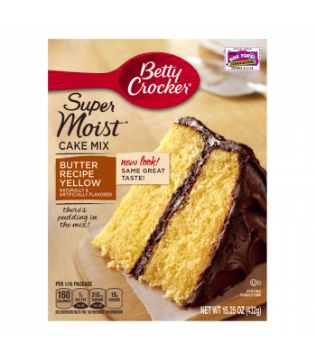 Clearance Special - Betty Crocker Super Moist Butter Recipe Yellow 432g ** December 2016 ** Clearance Zone