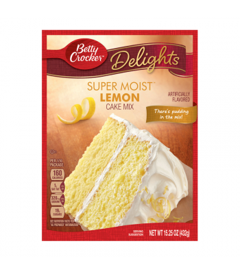Betty Crocker Super Moist Lemon Cake Mix 432g (15.25oz)  Food and Groceries Betty Crocker