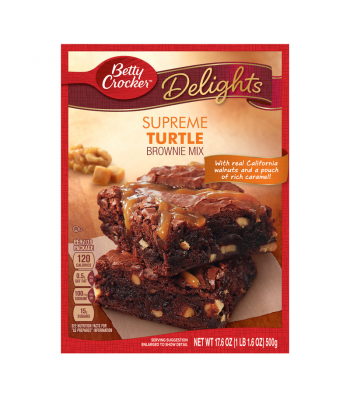Betty Crocker Delights Supreme Turtle Brownie Mix 17.6oz (500g)