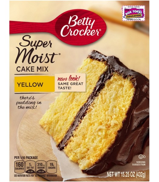Betty Crocker Super Moist Yellow Cake Mix 432g  Food and Groceries Betty Crocker