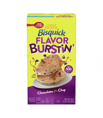 Clearance Special - Bisquick Flavor Burstin' Chocolate Chip Complete Pancake Mix 20oz - (567g) **Slight Damage** Clearance Zone