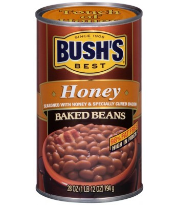 Bush Baked Beans With Honey 28oz Tinned Groceries Bush's Baked Beans
