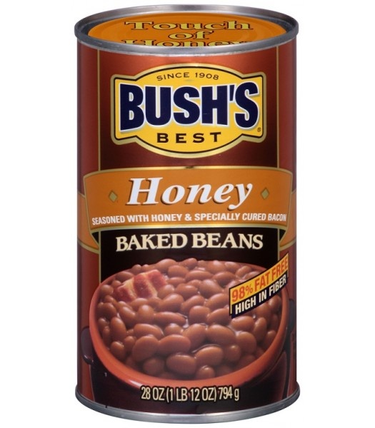 Bush Baked Beans With Honey 28oz Tinned Groceries Bush's Baked Beans