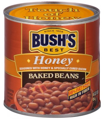 Bush Baked Beans Honey 16oz (454g) Tinned Groceries