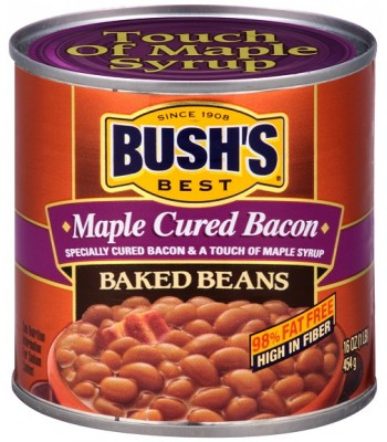 Bush Baked Beans Maple Cured Bacon 16oz (454g) Tinned Groceries Bush's Beans