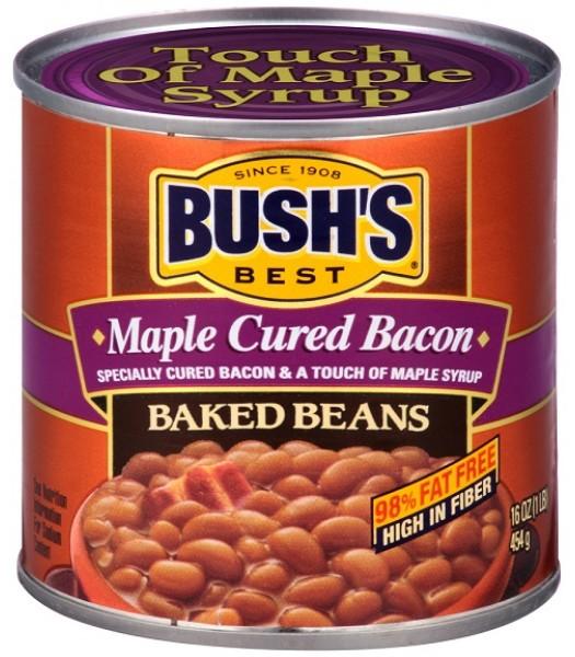 Bush Baked Beans Maple Cured Bacon 16oz (454g) Tinned Groceries Bush's ...