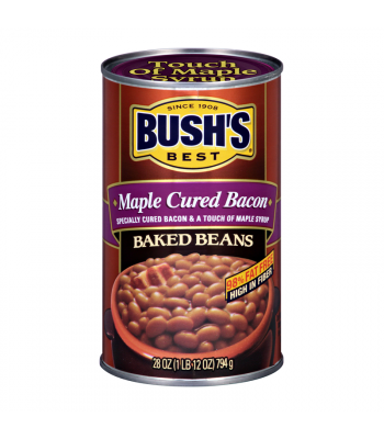 Bush's Best Maple Cured Bacon Baked Beans 28oz (794g) Tinned Groceries Bush's Beans