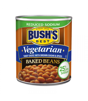 Bush's Best Baked Beans - Vegetarian - Reduced Sodium - 16oz (454g) Tinned Groceries Bush's Beans