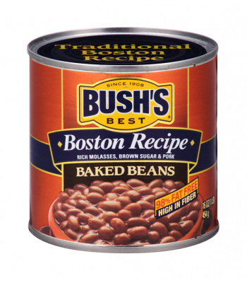 Bush Baked Beans Boston Recipe 16oz (454g) Tinned Groceries Bush's Beans