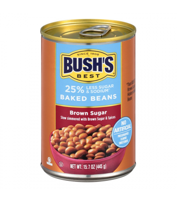 Bush's Best Reduced Sugar & Sodium Brown Sugar Baked Beans - 15.7oz (445g) Food and Groceries Bush's Beans