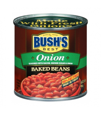 Bush Baked Beans With Onion 16oz (454g) Tinned Groceries Bush's Beans