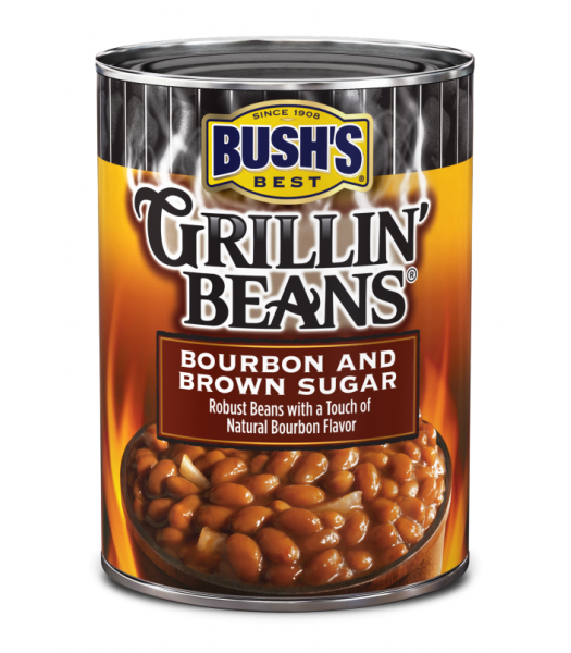 Bush's Best Grillin' Beans Bourbon and Brown Sugar 22oz (624g) Tinned Groceries Bush's Baked Beans