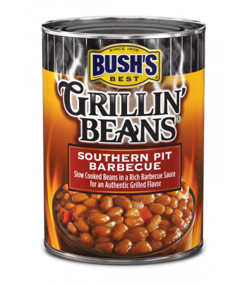 Bush's Best Grillin' Beans Southern Pit Barbecue 22oz (624g) Tinned Groceries Bush's Baked Beans
