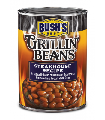 Bush's Best Grillin' Beans Steakhouse Recipe 22oz (624g) Tinned Groceries Bush's Baked Beans